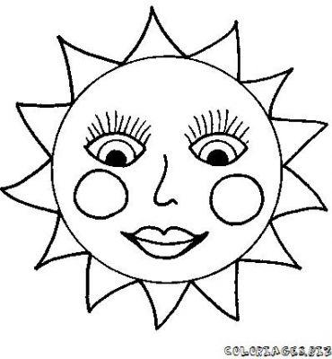 Coloriages soleil toile lune page 1 ecologie - Dessin de lune et soleil ...
