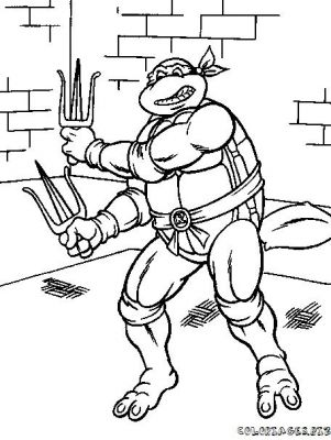 Coloriages gratuits tortues ninja coloriage tortues ninja 1 - Tortu ninja nom ...