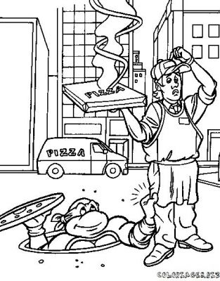 Coloriages tortues ninja page 1 h ros - Coloriage tortues ninja ...