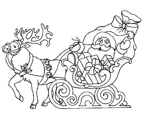 Pour faire de beaux dessins pour le pere noel - Coloriage traineau pere noel gratuit imprimer ...
