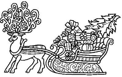 Coloriages traineau du pere noel page 1 noel - Coloriage de renne ...
