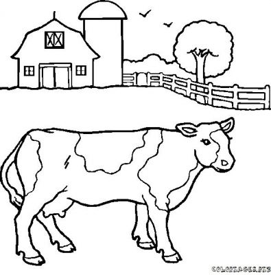 Coloriages vaches page 1 animaux - Dessin vaches ...