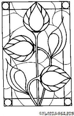 Coloriage en ligne vitrail gratuit 3794 d coupages bricolages - Vitraux a colorier ...