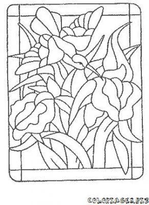 Coloriages vitrail page 2 d coupages bricolages - Vitraux a colorier ...