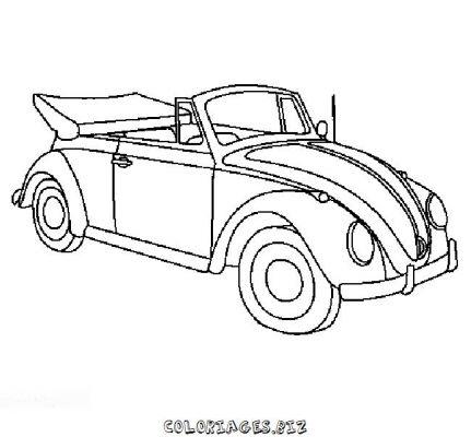 Coloriages voiture page 2 transports - Dessin coccinelle vw ...