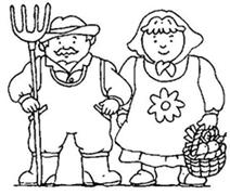 Coloriage enfant coloriage diddl coloriage disney - Coloriage de fermier ...
